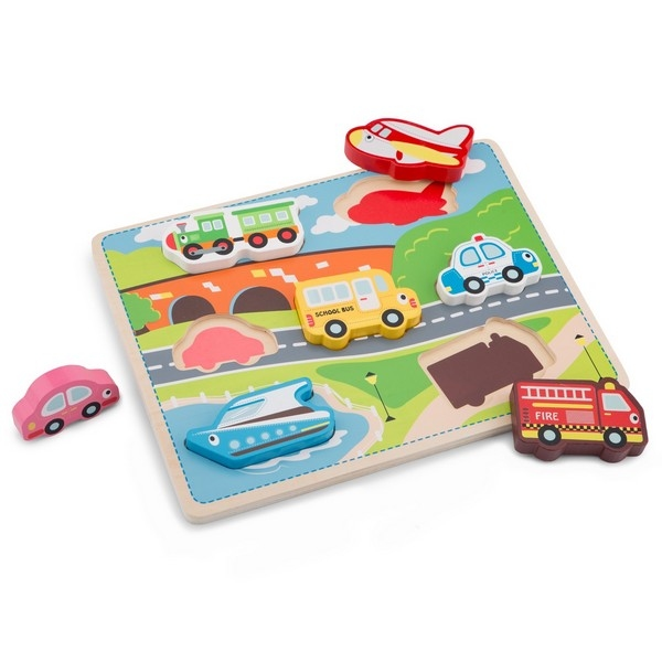 Puzzel - Chunky Transport - New Classic Toys