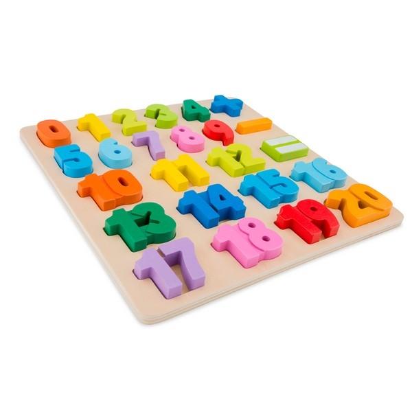 Puzzel - Getallen - grote stukken