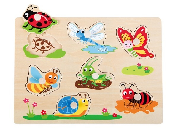 Puzzel - Insect - houten knop