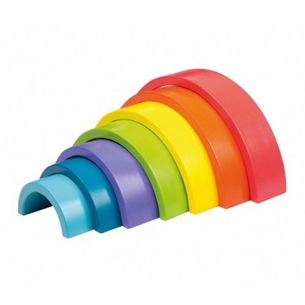 Regenboog blokken kleur 7-delig - Jouéco