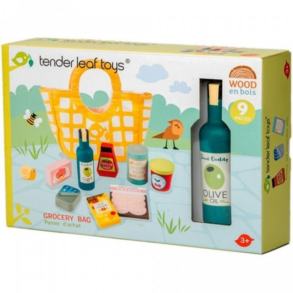 Shoppingbag with groceries - Tender Leaf Toys