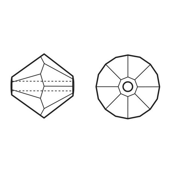 Swarovski Beads 8 mm Bicone Amethist zakje 100 stuks