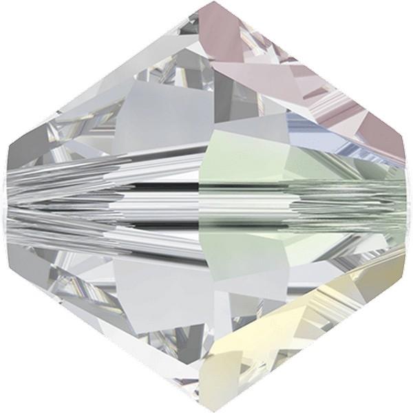 Swarovski Beads 8 mm Xilion Crystal 001 + AB !! 72 stuks
