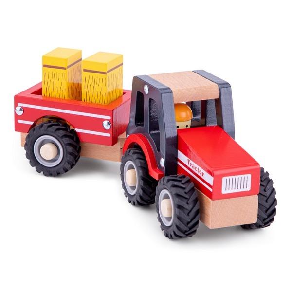 Tractor met aanhanger en speelfiguren - Hooibalen