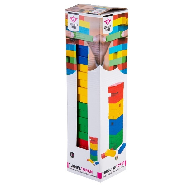 Tuimel toren hout 30 cm - 4 kleuren