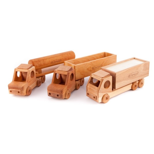 Vrachtwagen tankoplegger (lazuur)