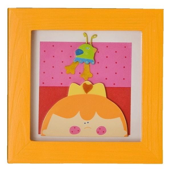 Wanddecoratie kleine prinses (14x14cm)