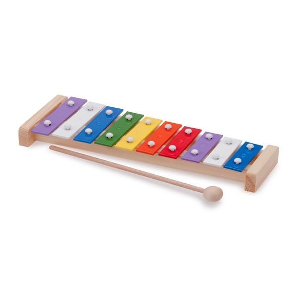 Xylofoon - 10-toons - recht 26cm - met muziekboek