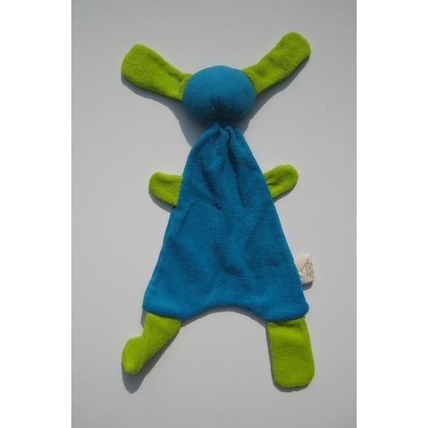 zBadstof Doggy kleur Turquiose/Lime (21x36cm)