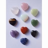 Hartjes van steen diverse (afname per 10 stuks)